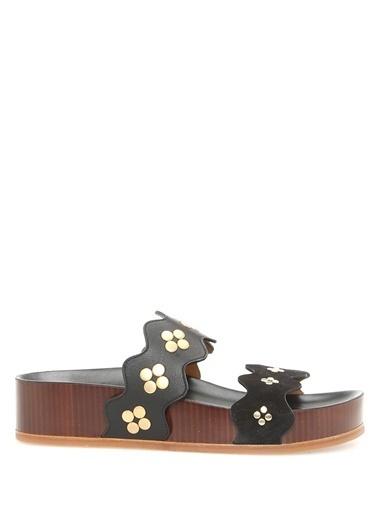 Chloe %100 Deri Sandalet Siyah